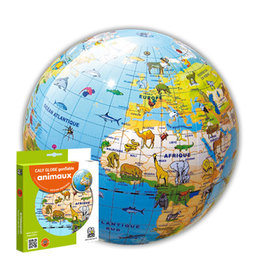 Caly Inflatable World Globe Animals 30cm