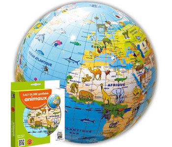 Inflatable World Globe Animals 30cm