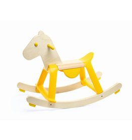 Djeco Yellow Rock'it Wooden Rocking Horse