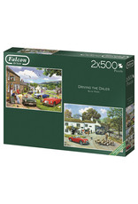 Falcon Driving in the Dales 2 x 500pc Puzzles