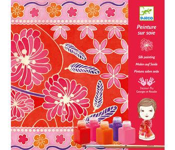 Silk Painting Japenase Garden