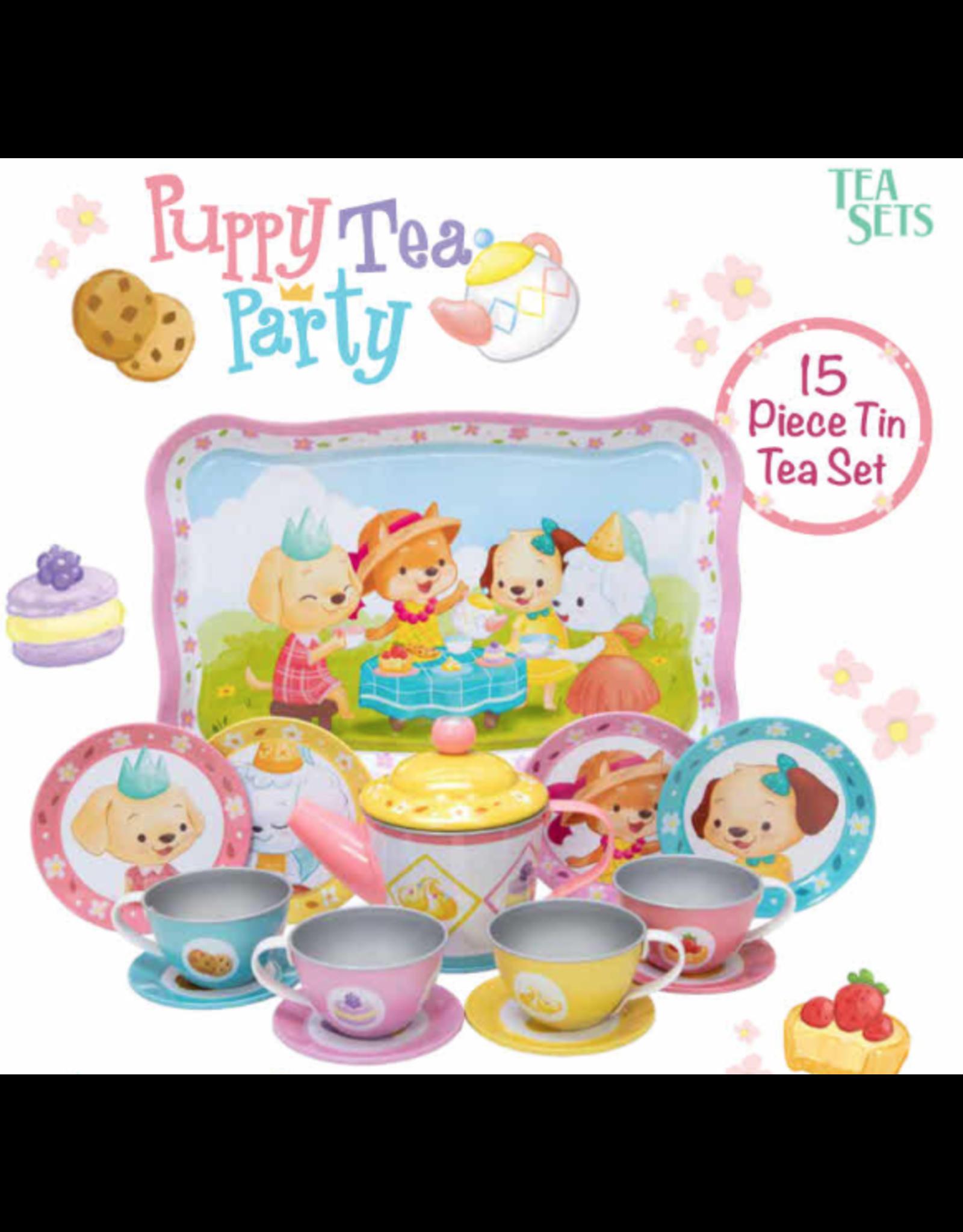 Schylling Puppy Tea Party Tin Tea Set