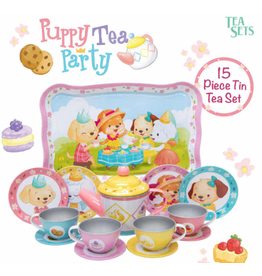 Schylling Puppy Tea Party Tin Tea Set