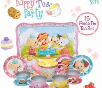 Puppy Tea Party Tin Tea Set