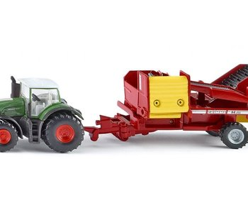 Siku Tractor with Potato Harvester