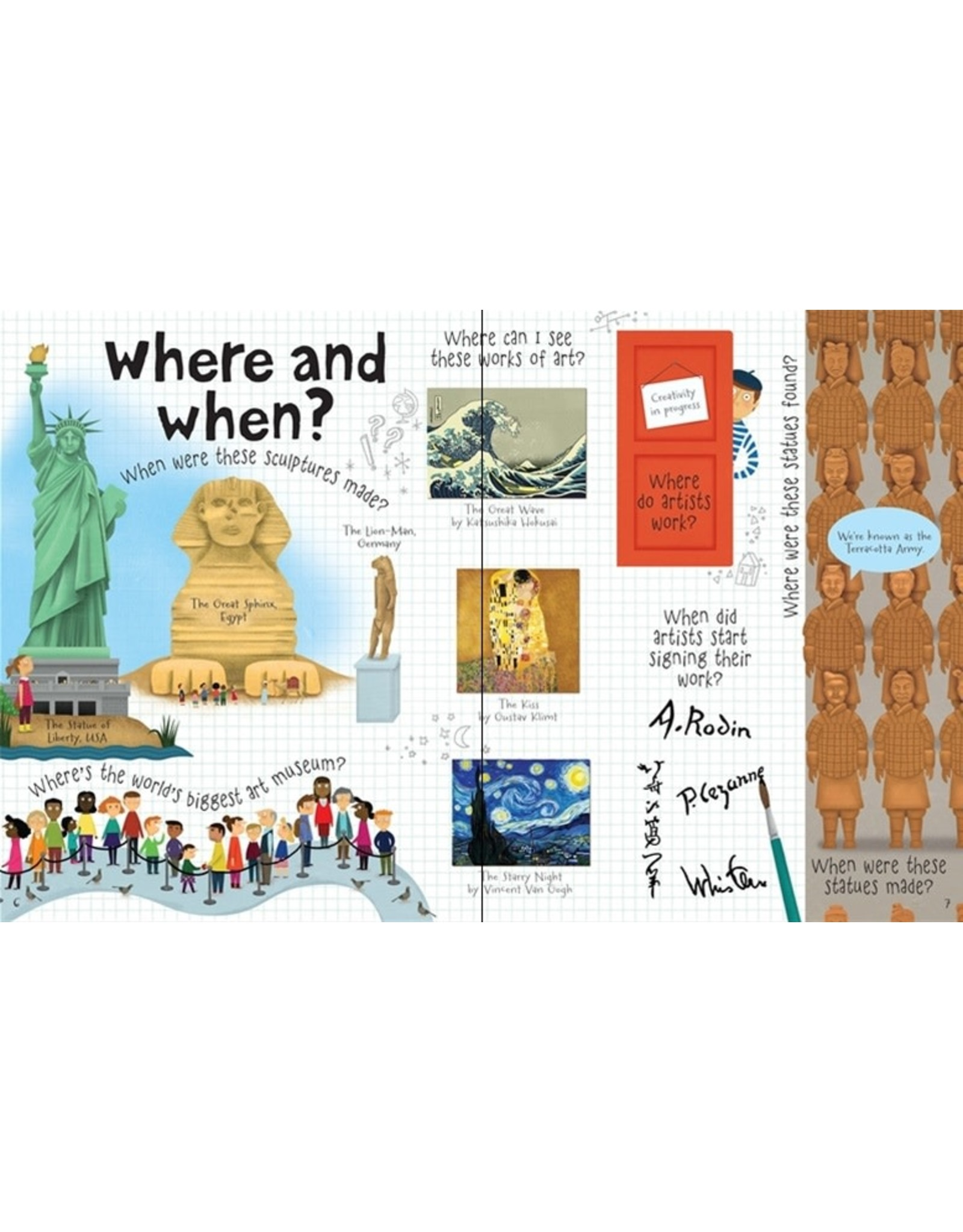 Usborne Lift-the-flap questions and answers about art
