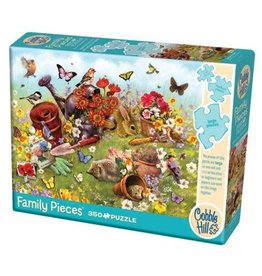 Cobble Hill Garden Scene 350pc Family Puzzle