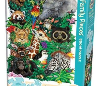 Safari Babies 350pc Family Puzzle
