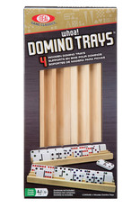 Ideal Wooden Domino Trays 4pk