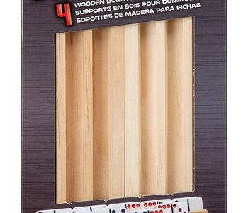 Wooden Domino Trays 4pk