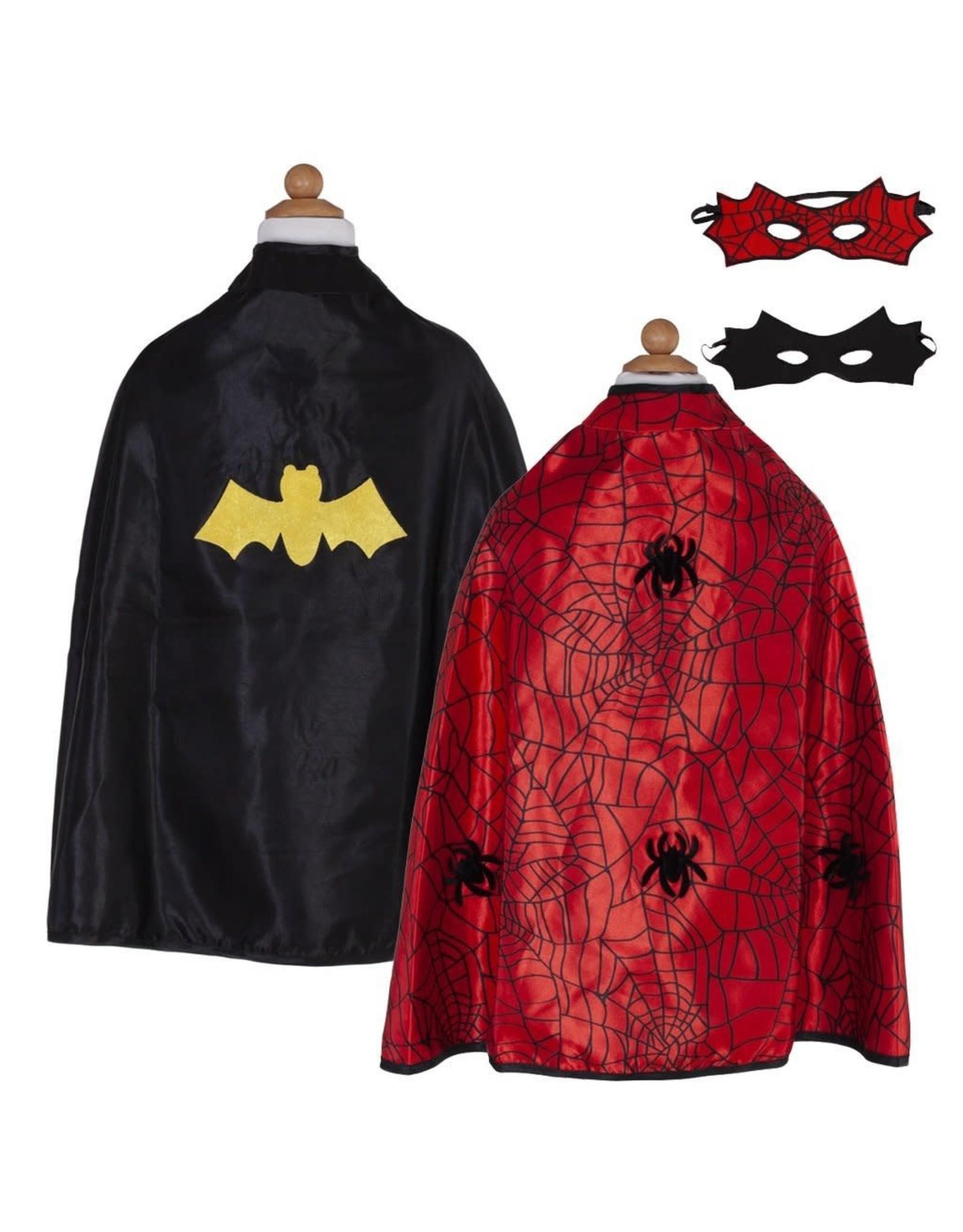 Great Pretenders Reversible Spider/Bat Cape Size 4-6
