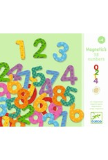 Djeco Magnetic Numbers 38pc wooden