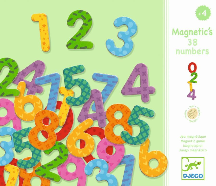 Magnetic Numbers 38pc wooden
