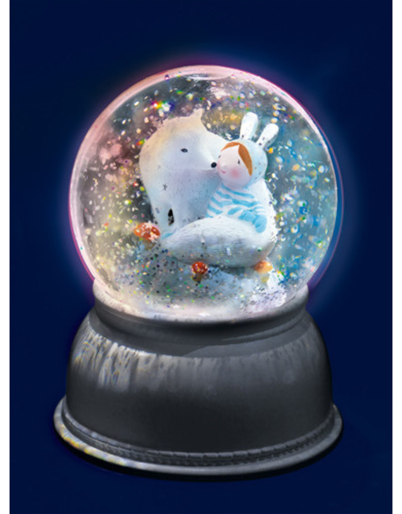 Djeco Snow ball Night Light Lila & Pupi