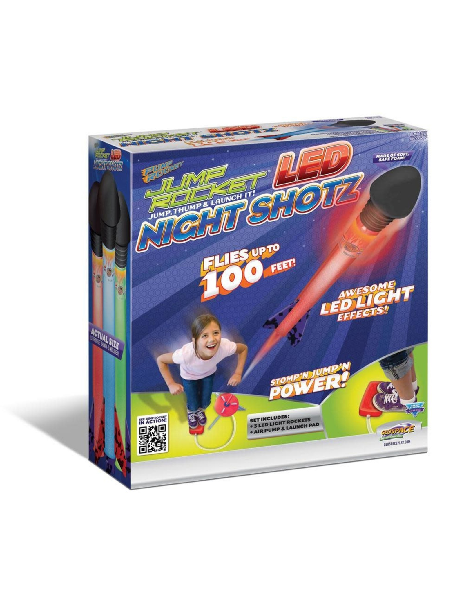 Geospace Jump Rocket LED Night Shotz 4+