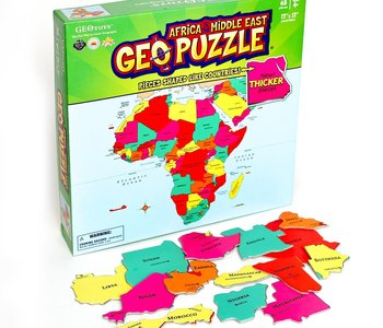 Geo Puzzle Africa & Middle East 65pc Puzzle