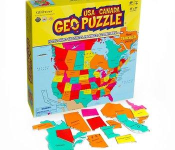 Geo USA & Canada 69pc Puzzle