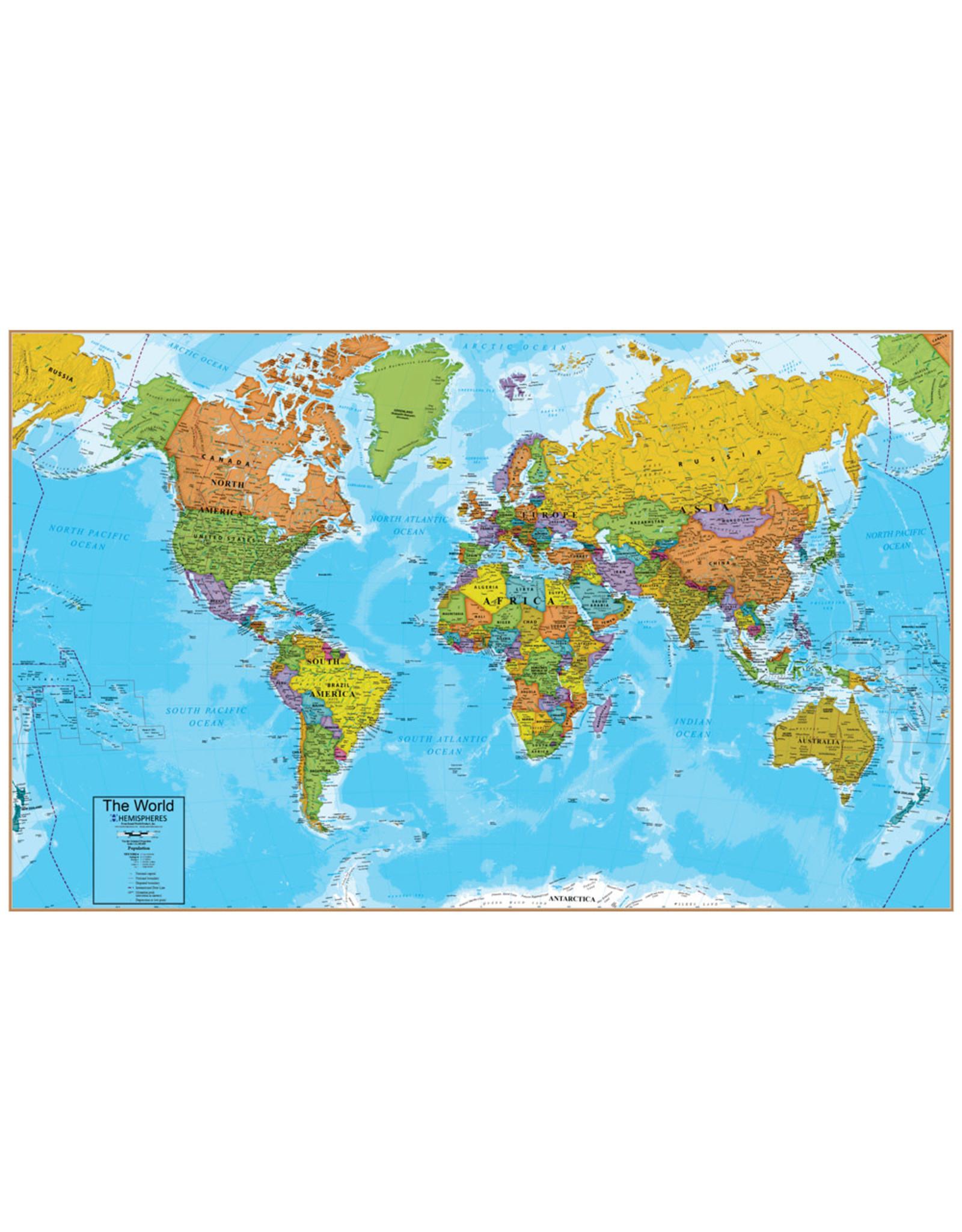 Waypoint Geographic Hemispheres World Map interactive