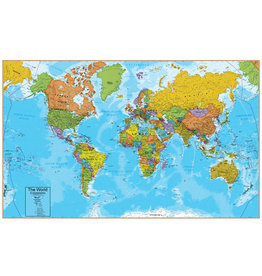 Waypoint Geographic Hemispheres World Map interactive
