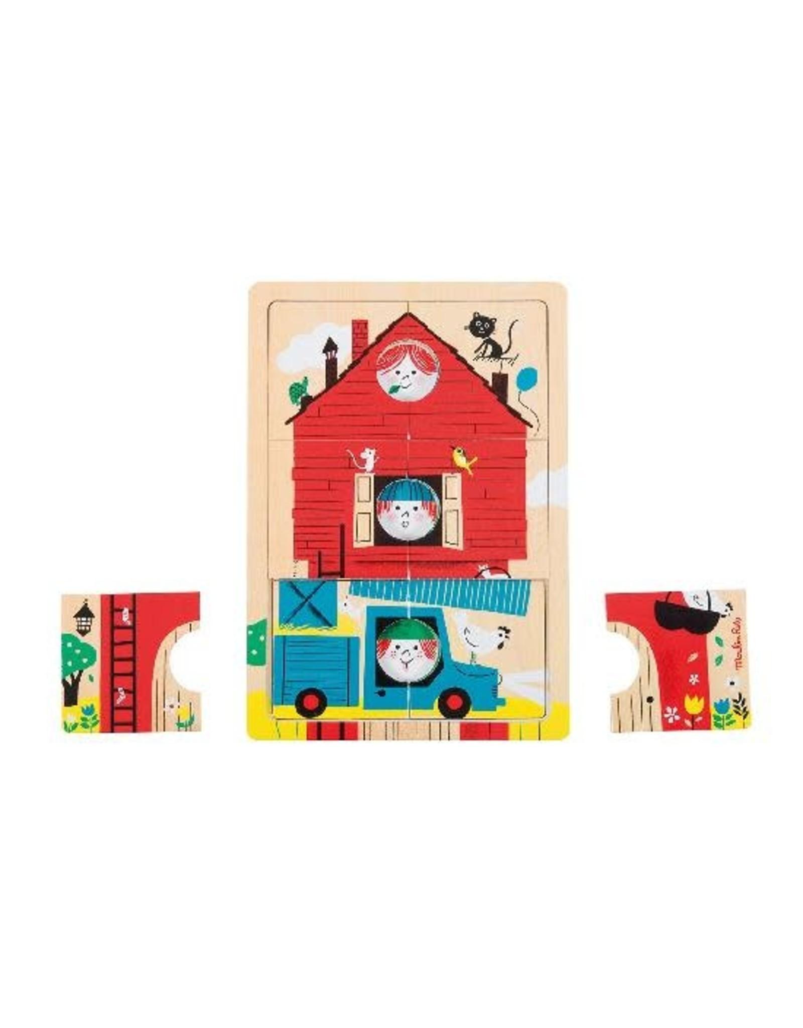 Moulin Roty 123 C'est Nous Wooden Layer Puzzle