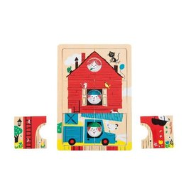 Moulin Roty 123 C'est Nous Wooden Layer Puzzle