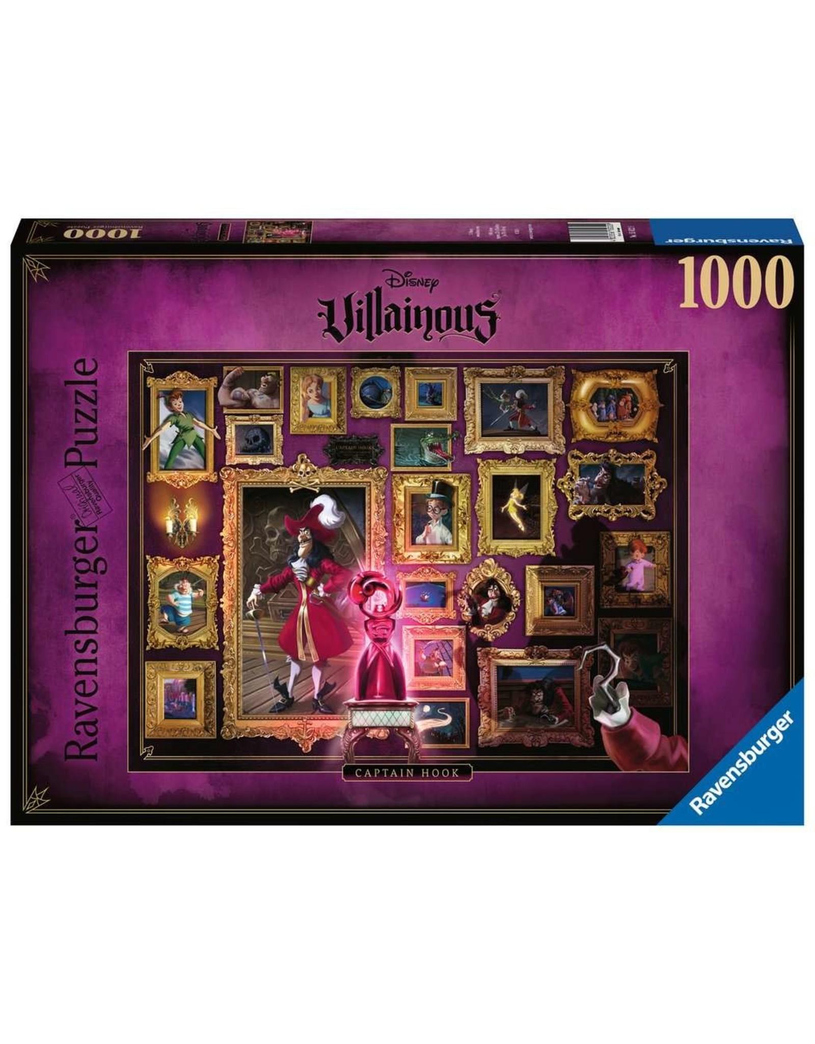 Ravensburger Disney Villainous Captain Hook 1000pc Puzzle