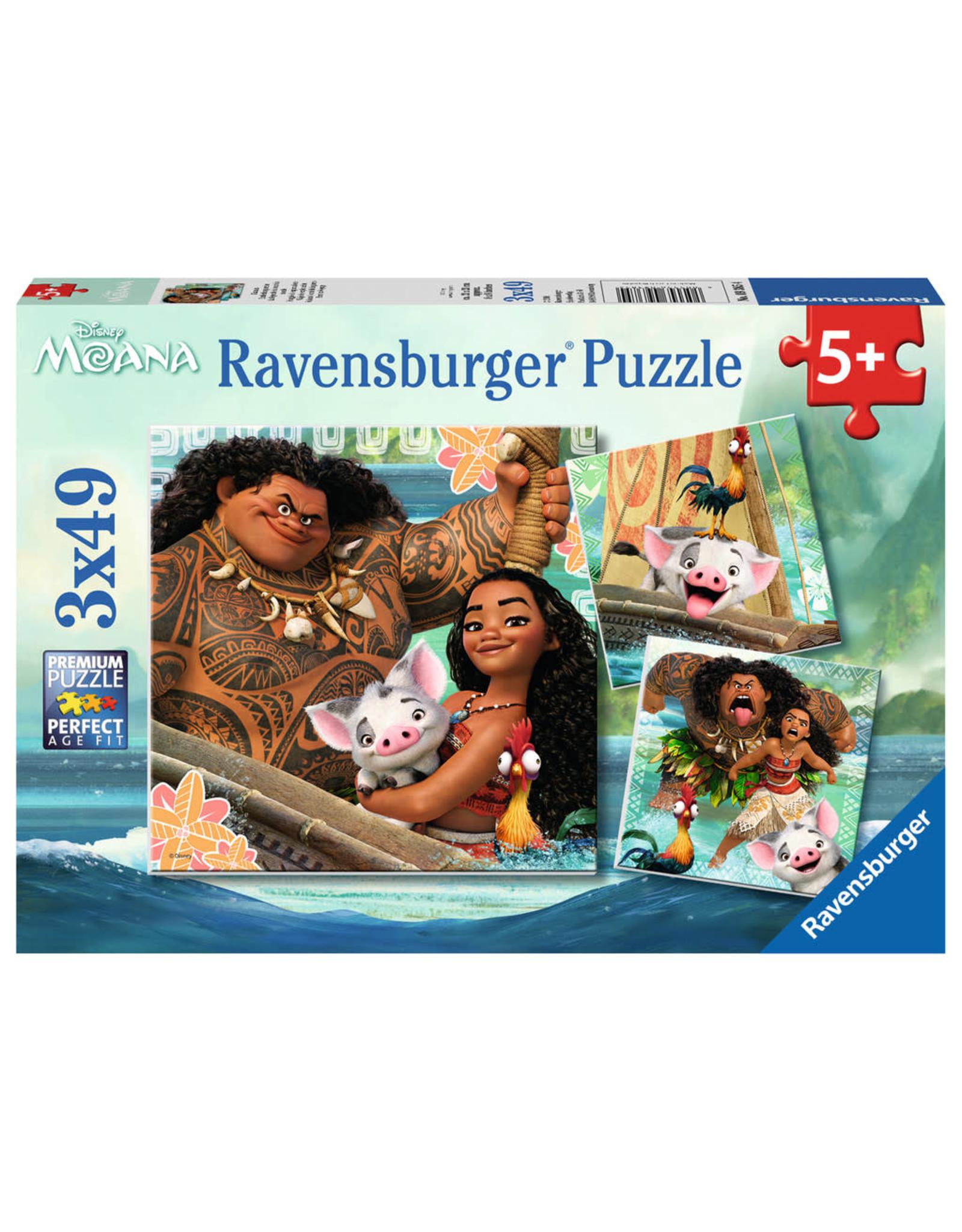 Ravensburger Born to Voyage Moana 3x49pc Puzzles