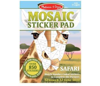 Mosaic Sticker Pad Safari