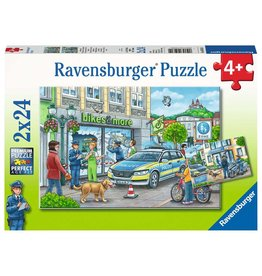 Ravensburger Police at Work! 2x24pc Puzzles