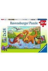 Ravensburger Dinosaurs at Play 2x24pc Puzzles
