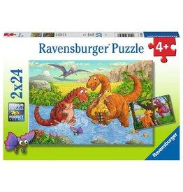 Ravensburger Dinosaurs at Play 2x24pc Puzzles