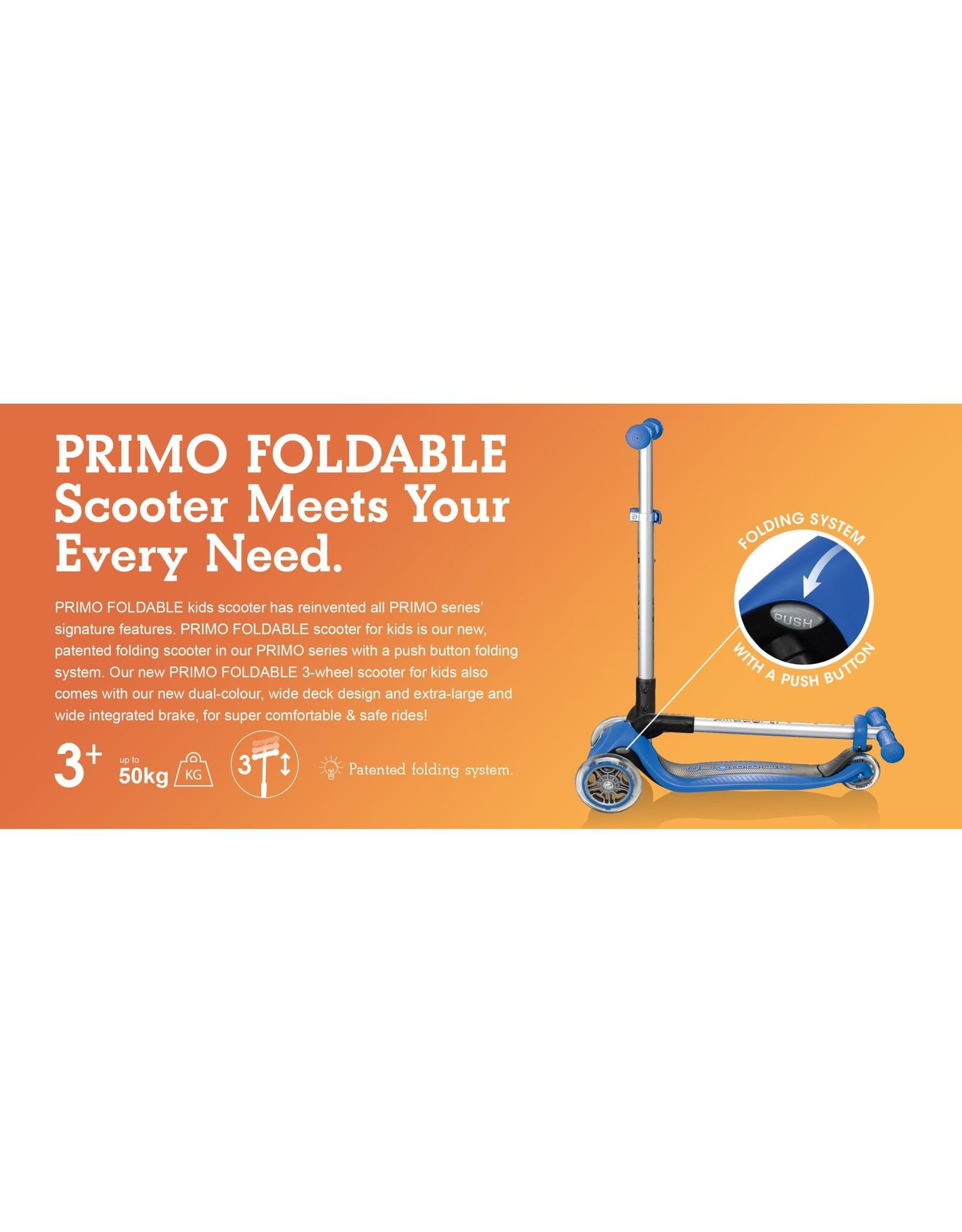 Globber Globber Primo Foldable Scooter - Navy Blue