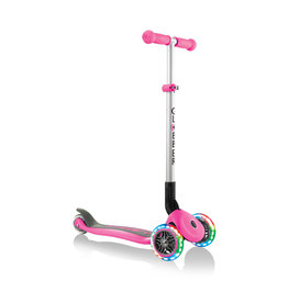 Globber Globber Primo Foldable Scooter with Lights - Deep Pink