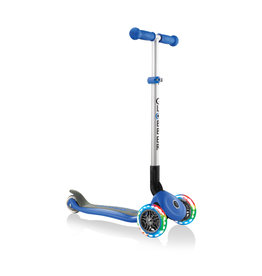 Globber Globber Primo Foldable Scooter with Lights - Blue
