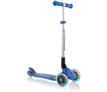 Globber Primo Foldable Scooter with Lights - Blue