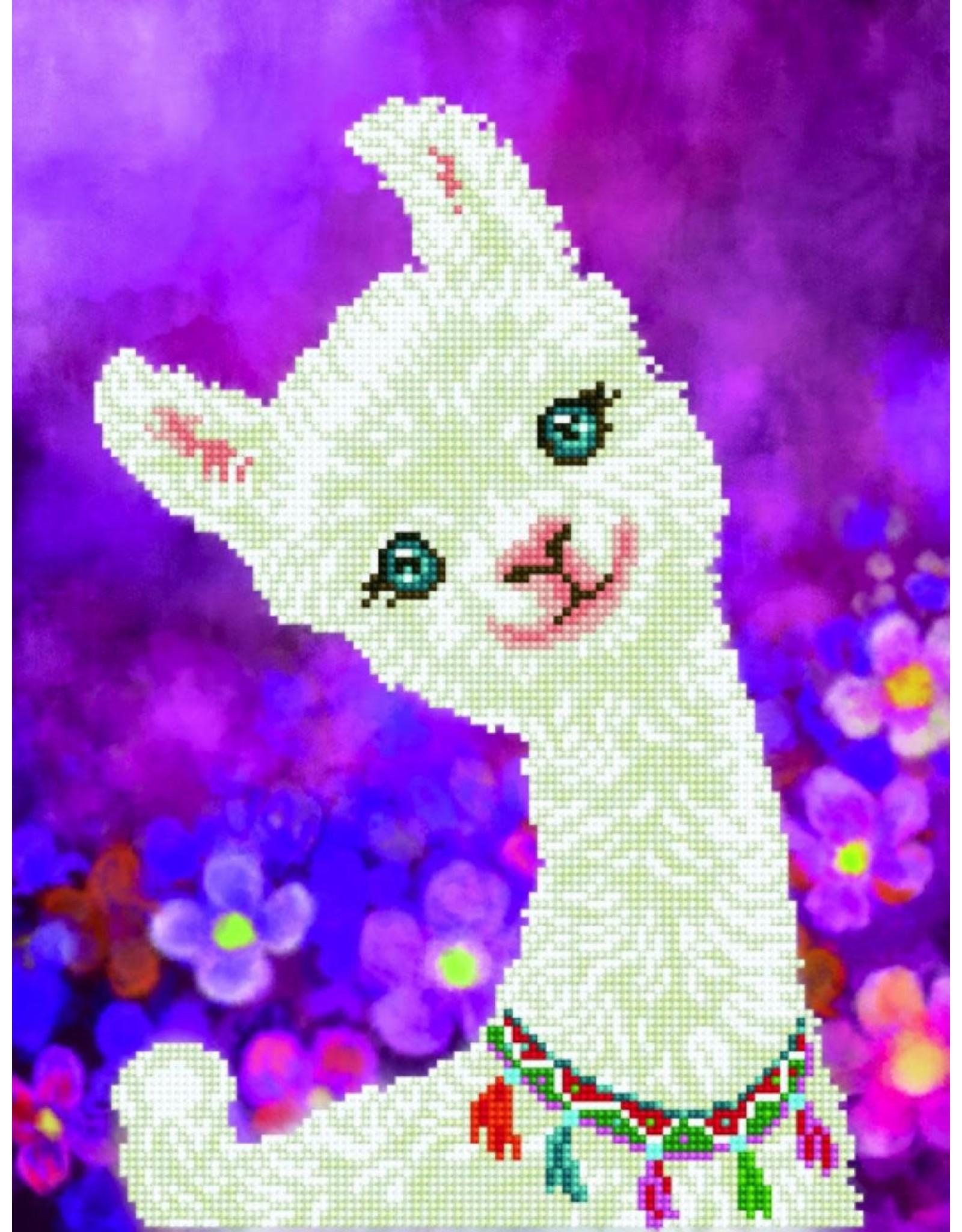 Diamond Dotz Diamond Dotz Luna Llama (intermediate)