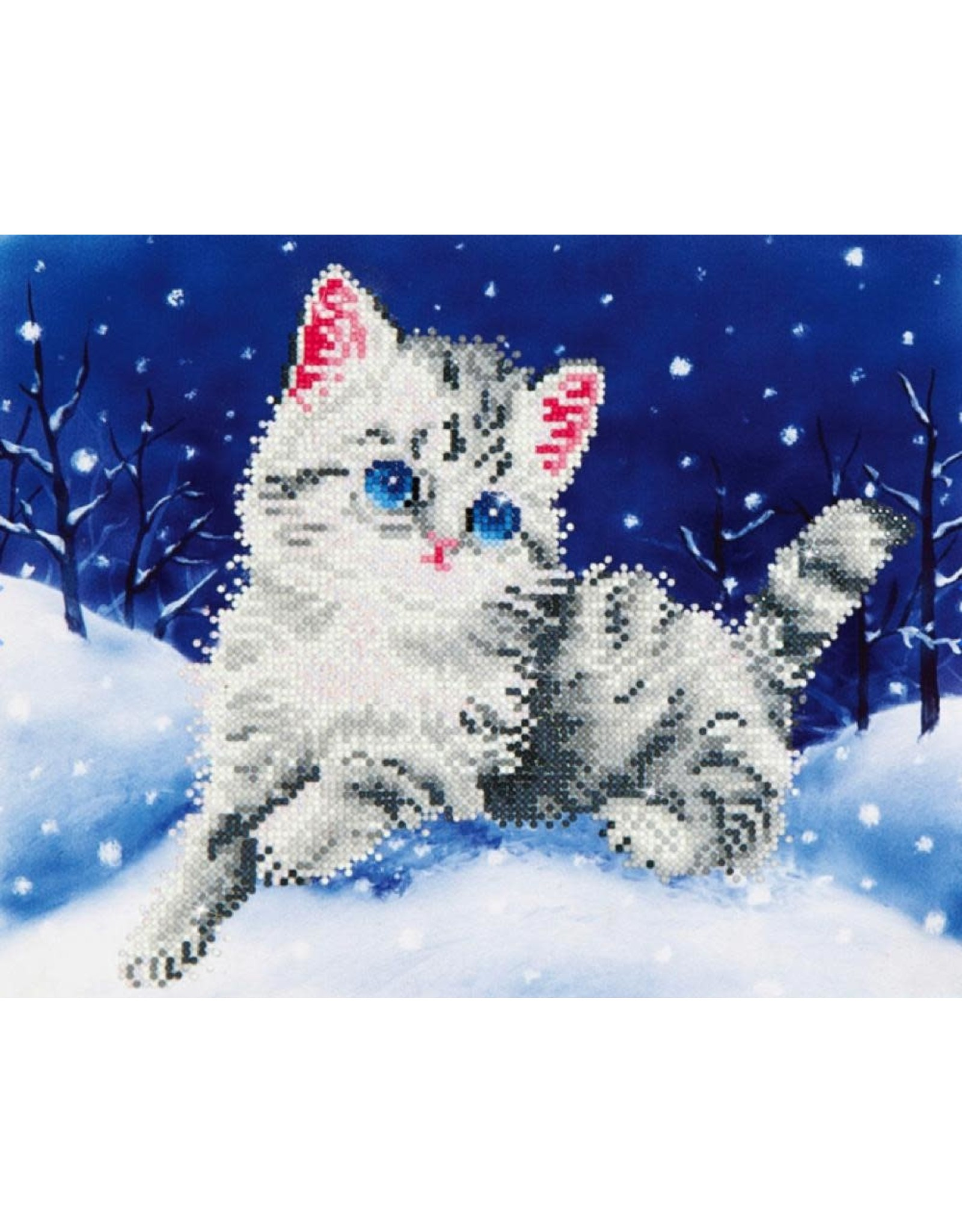 Diamond Dotz Diamond Dotz Kitten in the Snow (intermediate)