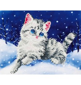 Diamond Dotz Diamond Dotz Kitten in the Snow (intermediate)