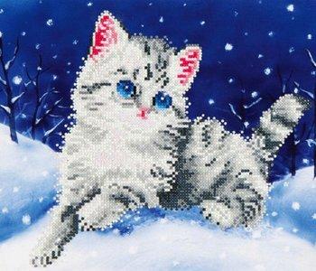 Diamond Dotz Kitten in the Snow (intermediate)