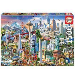 Educa North American Landmarks 1500pc Puzzle