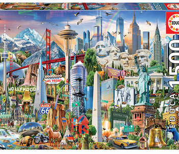 North American Landmarks 1500pc Puzzle