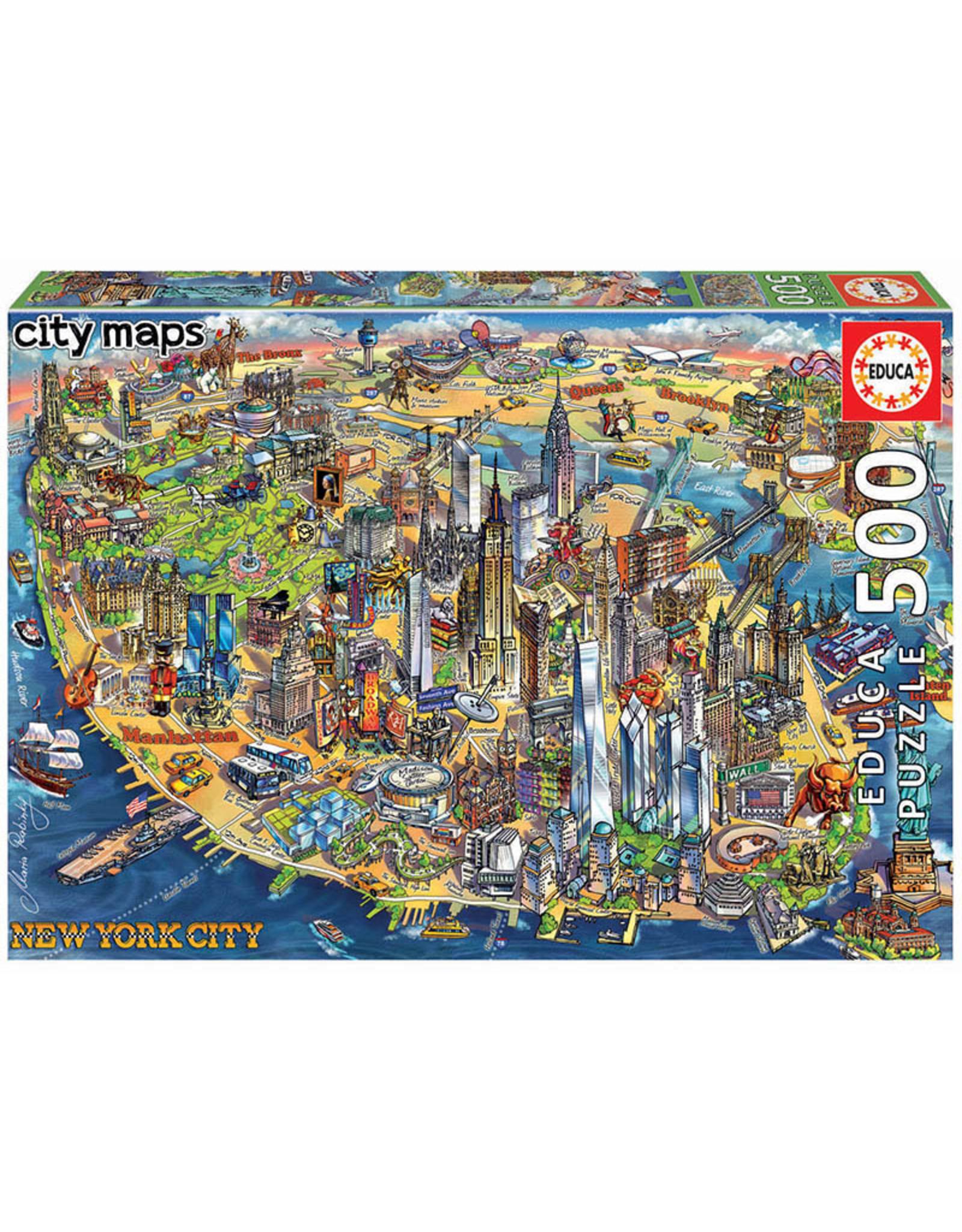 Educa New York City Map 500pc Puzzle