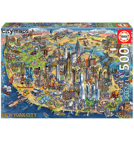 Educa New York City Map 500pc Puzzle