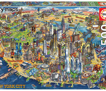 New York City Map 500pc Puzzle
