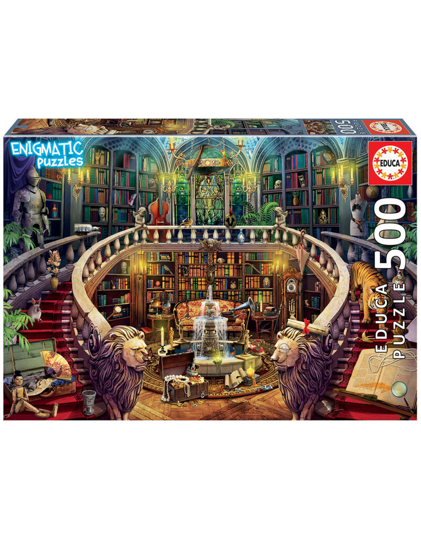 Educa Old Library 500pc Enigmatic Puzzle