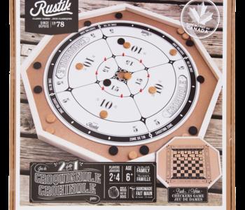 Crokinole Board 2 Games in 1 Made in Canada