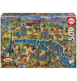Educa Paris Map 500pc Puzzle