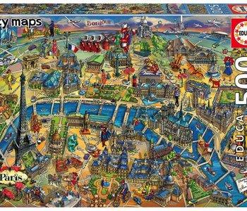 Paris Map 500pc Puzzle