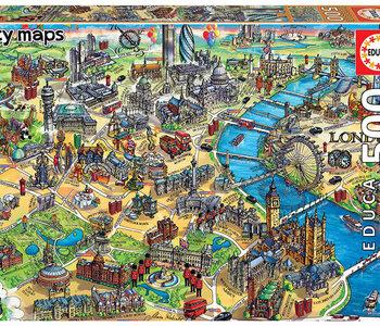 London City Map 500pc Puzzle