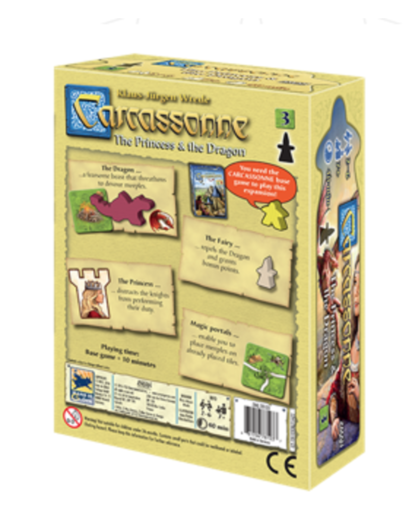 Z-Man Carcassonne (expansion) - The Princess and the Dragon